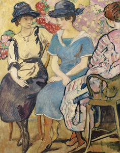 Figures, Chavance Family, 1918, by Louis Valtat (French, 1869–1952).