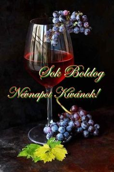 Name Day, Red Wine, Wine Glass, Alcoholic Drinks, Birthday, Tableware, Box, Birthdays, Dinnerware
