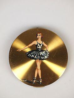 Vintage Stratton Gold Ballerina Series Compact