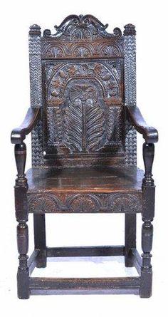 Late 17th Century Antique Oak Armchair