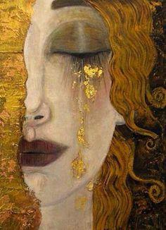 Peinture de Gustav Klimt #DIY #deco #dessin #peinture #brico #creation #couture #myfashionlove www.myfashionlove.com