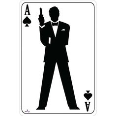 Ace of Spades Bond Silhouette Playing Card Cardboard Cutout