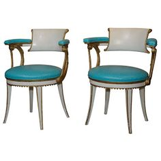 Dorothy Draper Armchairs from Fairmont Hotel Monument.