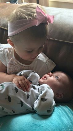 River Rose with her lil brother Remington Blackstock
