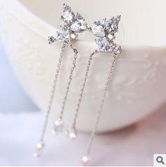 Silver  chain earring long Silver earring Cuban Chiain Siver Tassel  Earring chain  drop earring Silver filled earring