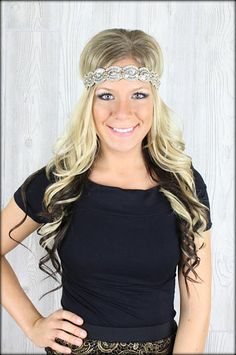 Pink Pewter Crystal Sparkle Headband: Filly Flair