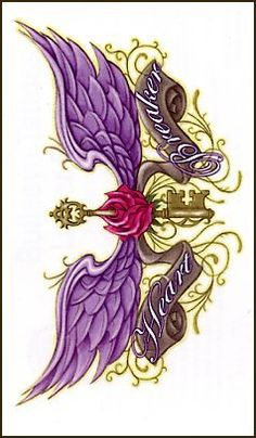 Broken Hearted Rose w/Wings Temporaray Tattoo Locket Tattoos, Key Tattoos, Body Art Tattoos, Sleeve Tattoos, Chest Piece Tattoos, Chest Tattoo, Tattoo Sketches, Tattoo Drawings, Purple Galaxy Wallpaper