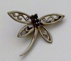 Sterling Silver Dragonfly Pendant and Brooch with by onetime, $6.25