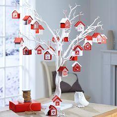 Hobbycraft Wooden Advent Houses 24 Pieces   Hobbycraft