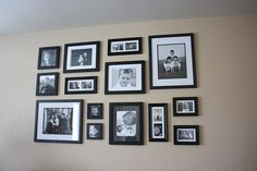 So that's how I do a gallery wall! Love how much life and warmth some family pictures can make!