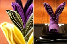 14 Creative Napkin-Folding Techniques - Neatologie.com  Love the rabbit ears especially for 1st of month good luck!