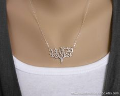 Dainty Tree Necklace on Sterling Silver Chain - tree of life, bridesmaid gift, best friend gift, mom gift, sister, daughter gift