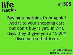 Buying things from Apple