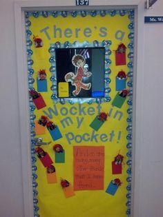 dr seuss wocket in my pocket board...