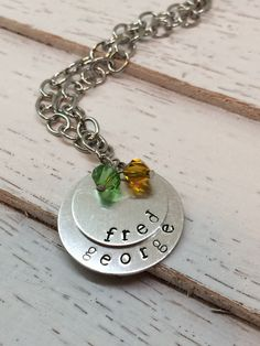 Custom, Hand Stamped Mother's Necklace - Stacked Circles