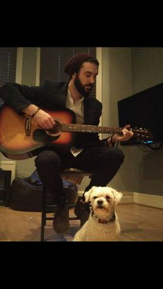 Jammin with louis #guitar #dog