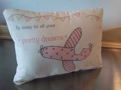 pink airplane pillow baby shower gift cotton new baby gift throw pillow home decor
