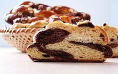 Domáca dvojfarebná vianočka Russian Recipes, Something Sweet, Banana Bread, French Toast, Muffin, Pie, Sweets, Breakfast, Desserts