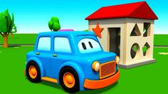 3D animation and Educational Cartoon. Clever Cars build a House. Learn C...