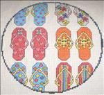 circle flip flops