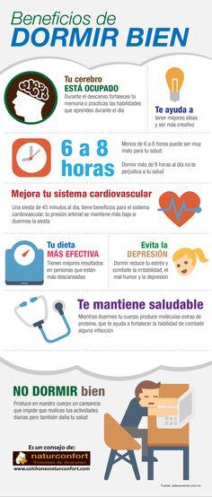 Beneficios de dormir bien #infografia