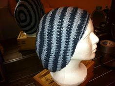 Only the beginning: Slouchy Hat Crochet Pattern. This is the best pattern I have found so far for Slouchy Beanies. She has another link to the same pattern for people that crochet tight. It's easy to read for someone that is still learning the short hand lingo.