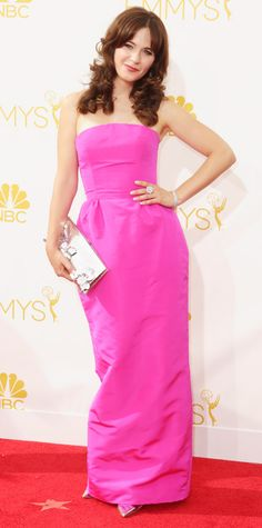 Emmy Awards 2014 Red Carpet Photos - Zooey Deschanel from #InStyle
