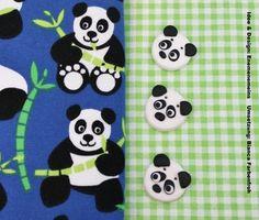 """3 """"Bamboo"""" Zierknöpfe Knöpfe Panda enemenemeins von biancafarbenfroh auf DaWanda.com"""