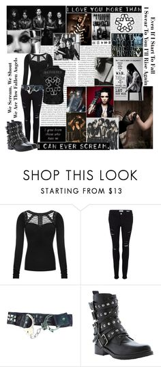 """Black Viel Brides"" by demolition-vampire ❤ liked on Polyvore featuring Oris, Vans, Frame and Dune Black"