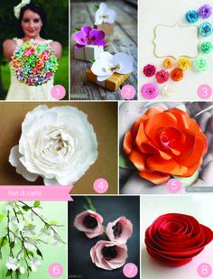 paper flower tutorial round-up