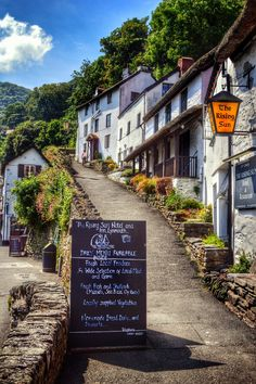 Lynmouth, Devon, England. I'd like to eat some fish 'n chips here.