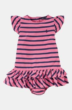 Ralph Lauren Dress & Bloomers (Baby Girls) available at #Nordstrom