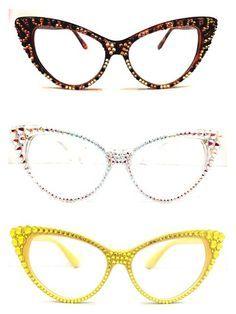 Crystal Cateye Reading Glasses - Divalicious Jewelry Очки Кошачий Глаз,  Винтаж, Солнцезащитные Очки, d5e0aa64b42