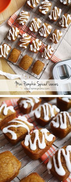 Mini Pumpkin Bread Loaves Recipe - The perfect autumn cake! Spiced with wafts of cinnamon and nutmeg, ideal with a latte and a cosy sweater to welcome in fall...