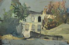 Vasyl Khmeluk (1903 - 1986) Chateau, 1940s