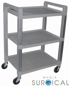 Ideal Medical Products - 7022D - Utility Poly Cart w/3 Shelves