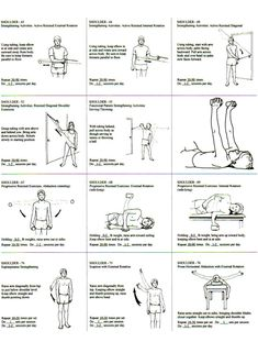 Shoulder Strengthening rehab exercises. Going to start doing these three times a week. I must.