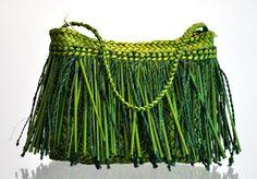 Addie Wainohu Kura Gallery Maori Art Design Aotearoa  New Zealand Raranga Weaving Kete Piupiu Whakairo Small Green