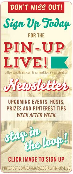 #PinUpLive Stay in the Pin Up Live Loop! Be sure to sign up for our newsletter to find out what is happening next! We have a big surprise coming up too - a really big travel company will be coming to chat with us soon! >>> just click on this image to sign up for the weekly newsletter.