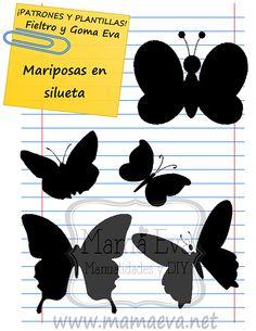 Plantillas de mariposas y bichejos Felt Diy, Felt Crafts, Craft Projects, Projects To Try, Felt Quiet Books, Paper Animals, Craft Patterns, Paper Piecing, Paper Art