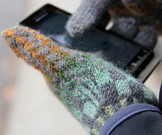 This is so cool!  Knitting comes into the 21st century!  Teknika conductive-thread gloves