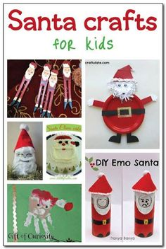 Six fun and easy Santa crafts for kids. Great Christmas craft ideas for kids to try!    Gift of Curiosity