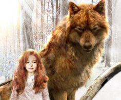 "Blythe Darrington-Hughes as Renesmee with werewolf Jacob in ""Twilight Saga: Breaking Dawn 2"" (2013)"