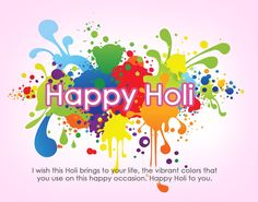 Happy Holi To You Picture Message available for free download.