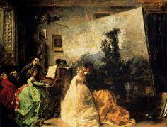 El estudio de Muñoz Degrain – Francisco Domingo Marqués (1842-1920)
