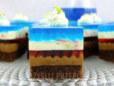 "z cukrem pudrem: ciasto ""Cudaczek"" Another example of piped cream under gel Sweets Cake, Cupcake Cakes, Ukrainian Desserts, Biscuit Cupcakes, Chocolates, Dinner Party Desserts, Cake Recipes, Dessert Recipes, Traditional Cakes"