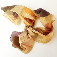 Handmade Scarf. Hand Painted Long Silk Scarf by KatarzynaKaMaART, $57.00