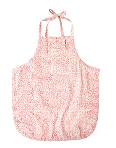 Our apron is hand sewn and hand block printed by women who were victims of trafficking in India.