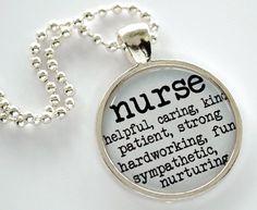 Dedicated Nurse Charm Necklace - RN Gift, Birthday Gift, Graduation Gift, Nursing School, Graduation on Etsy, $14.95