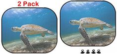Luxlady Car Sun Shade Protector Block Damaging UV Rays Sunlight Heat for All Vehicles, 2 Pack Image ID: 33500061 Hawksbill Swimming in Tropical Ocean Car Seat Accessories, Car Sun Shade, Sunlight, Turtle, Car Seats, Tropical, Swimming, Ocean, Link